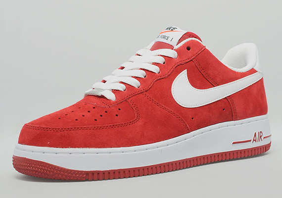 nike air force 1 low red and white