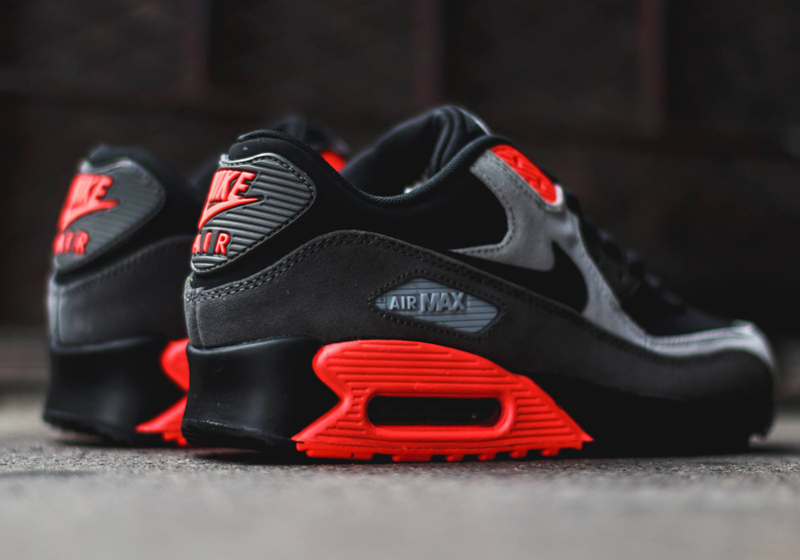 191737e8ce01 Nike Air Max 90 - Black - Ash Grey - Total Crimson - SneakerNews.com