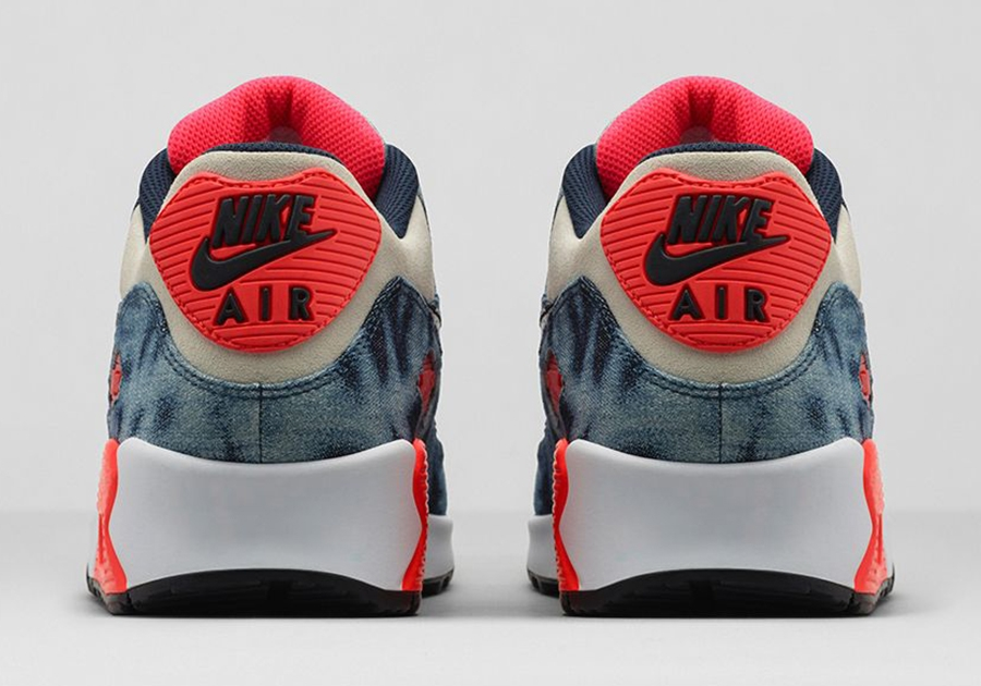 "newest 18675 7e8cc Nike Air Max 90 ""Infrared Washed Denim"" – Release Date"