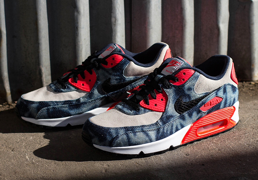how to clean nike air max 90 infrared on feet