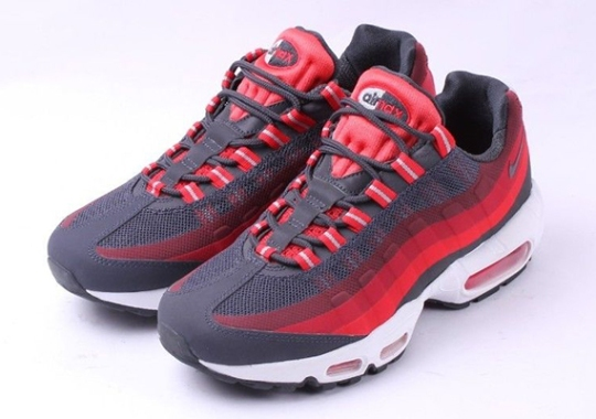 3fcf3ce9821d7 Nike Air Max 95 No-Sew – Anthracite – Challenge Red – Laser Crimson
