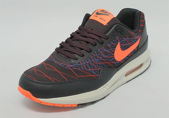 Nike Air Max Lunar1 Jacquard Black Orange Burgundy