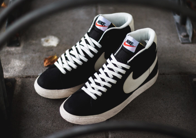 Nike Blazer Mid Premium Vintage Black White