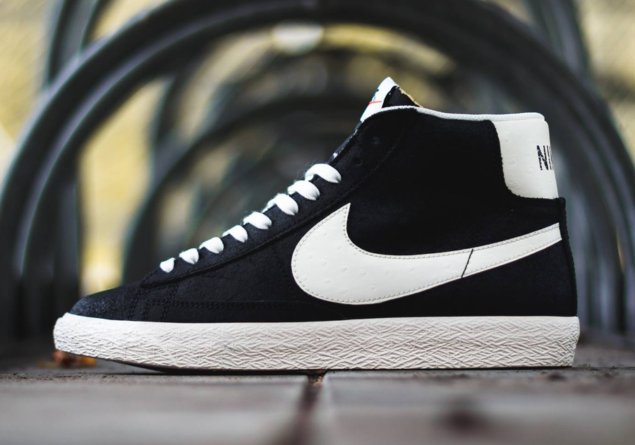 newest collection 0e86d 4f417 Nike Blazer Mid Premium Vintage - Black - White - SneakerNews.com