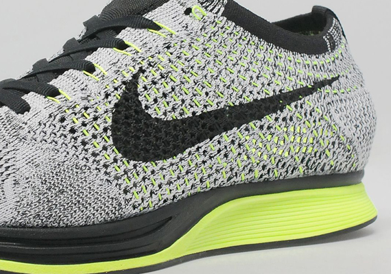 ba4673c249269 ... sale nike flyknit racer grey volt black sneakernews 49b0c bff68 ...