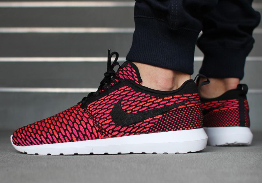 Nike Run Roshe Flyknit Rojo Y Azul 03LCl