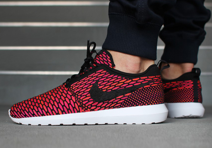 Nike Run Roshe Flyknit Noir-rouge-orange-blanc original Livraison gratuite kttYJp