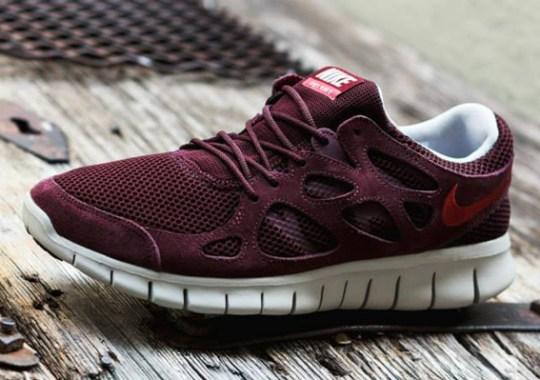 free shipping 4658c 7c564 Nike Free Run+ 2 – Deep Burgundy – Cedar