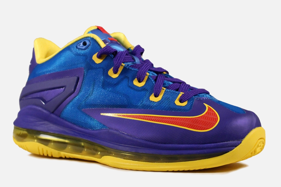 Nike LeBron 11 Low GS - Light Photo Blue - Challenge Red ...