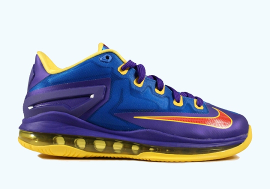Nike LeBron 11 Low GS – Light Photo Blue – Challenge Red – Dark Concord