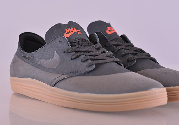 Nike SB's penchant for black uppers and gum bottoms is usually reserved for  the Dunk, but today the ultra lightweight Nike SB Lunar One Shot is the  proud ...