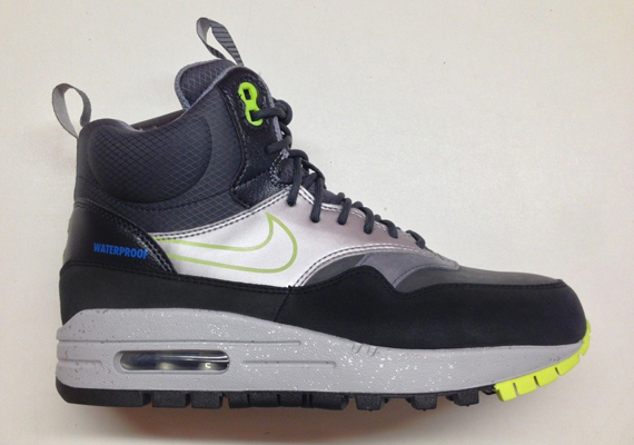 info for c1e03 ca9c6 Nike Womens Air Max 1 Sneakerboot – Black – Volt