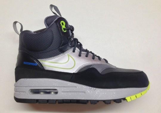 Nike Womens Air Max 1 Sneakerboot – Black – Volt