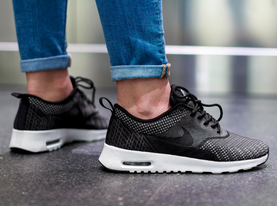 new concept c6ff3 a7f95 Nike WMNS Air Max Thea Jacquard Color Dark GreyBlack-White-Metallic Silver  Style Code ...