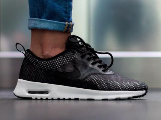 Nike Women's Air Max Thea Jacquard – Dark Grey – Black – Metallic Silver