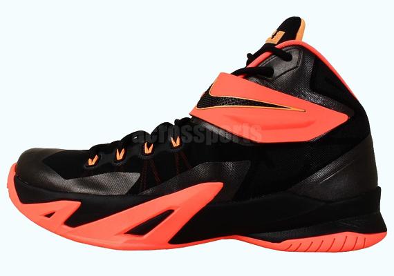 060df5bb7c58 Nike Zoom LeBron Soldier 8 - Black - Bright Mango - SneakerNews.com