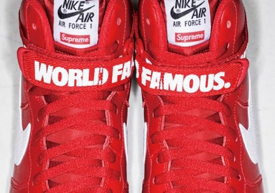 """Supreme x Nike Air Force 1 High """"Red"""""""