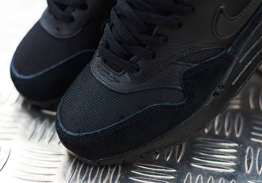 Nike Air Max 1 GS Color  Black Black-Black Style Code  555766-026. show  comments 992a7ee28