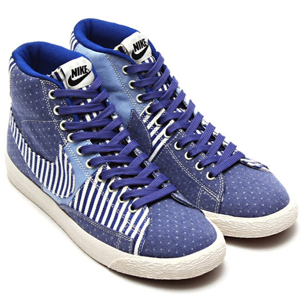 Nike Femmes Chaussures Patchwork En Denim Mi Blazer