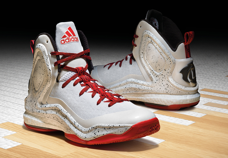"""hot sale online 9250f 446a6 adidas D Rose 5 Boost """"Home"""" """"Alternate Away"""" – Release Date ..."""