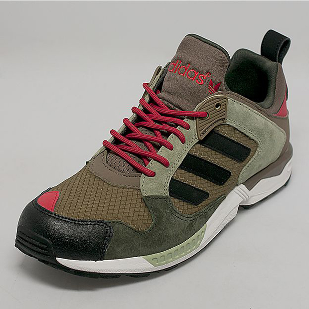 adidas Originals ZX 5000 RSPN – Dark Cargo – Black – Red