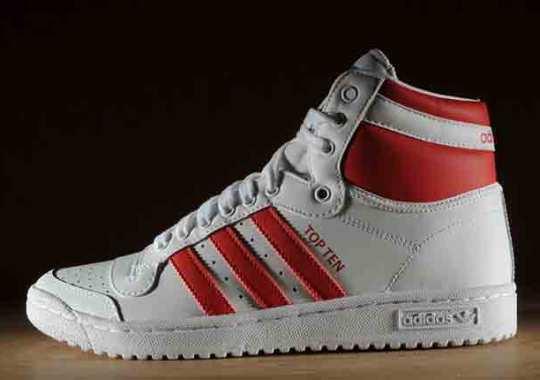 adidas Originals Top Ten Hi – White – Red
