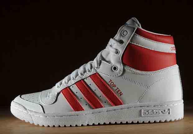 adidas originals top ten hi white red sneakernewscom