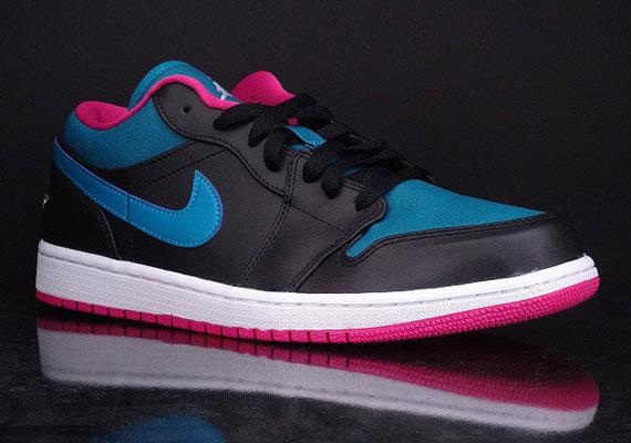 super popular 5bc94 a8382 Air Jordan 1 Low - Black - Space Blue - Fusion Pink - SneakerNews.com