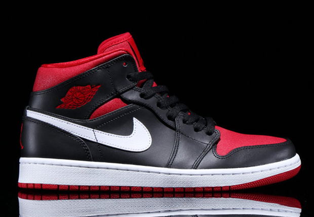 7b42c739523b0 Air Jordan 1 Mid - Black - Gym Red - White - SneakerNews.com