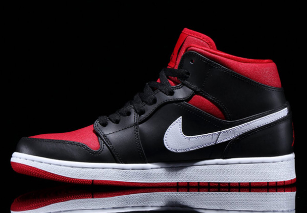 ca7a6d0d9e854 Air Jordan 1 Mid Color  Black Gym Red-Black-White Style Code  554724-020