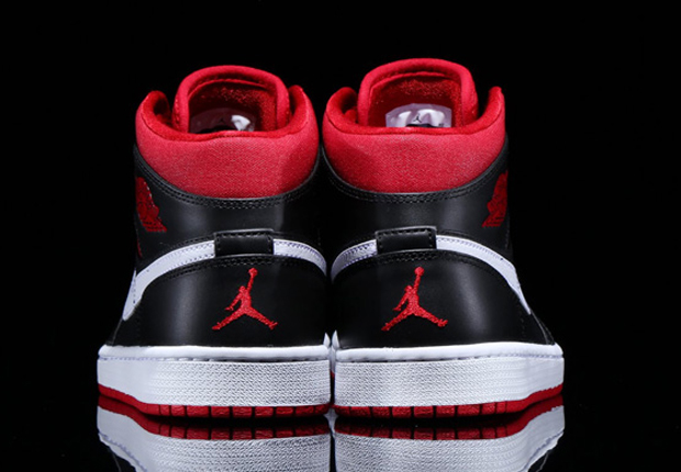 8584e1bd046f0 Air Jordan 1 Mid Color  Black Gym Red-Black-White Style Code  554724-020.  show comments