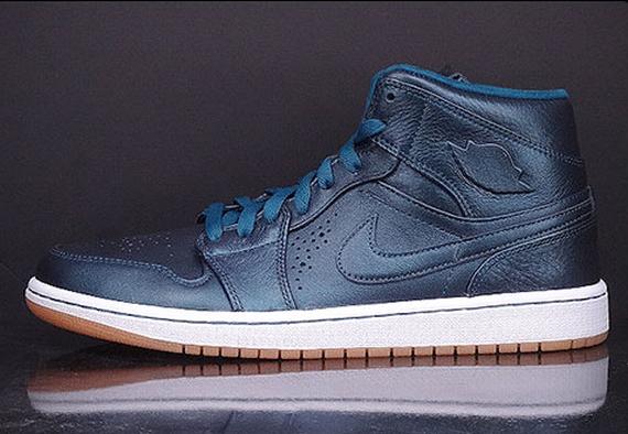promo code 9f4ac f6b40 Air Jordan 1 Mid Nouveau Color  Space Blue Gum Light Brown-White Style  Code  629151-404