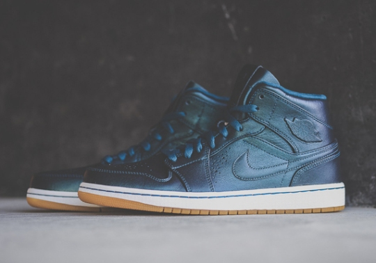 "Air Jordan 1 Mid Nouveau ""Spruce Blue"" – Available"