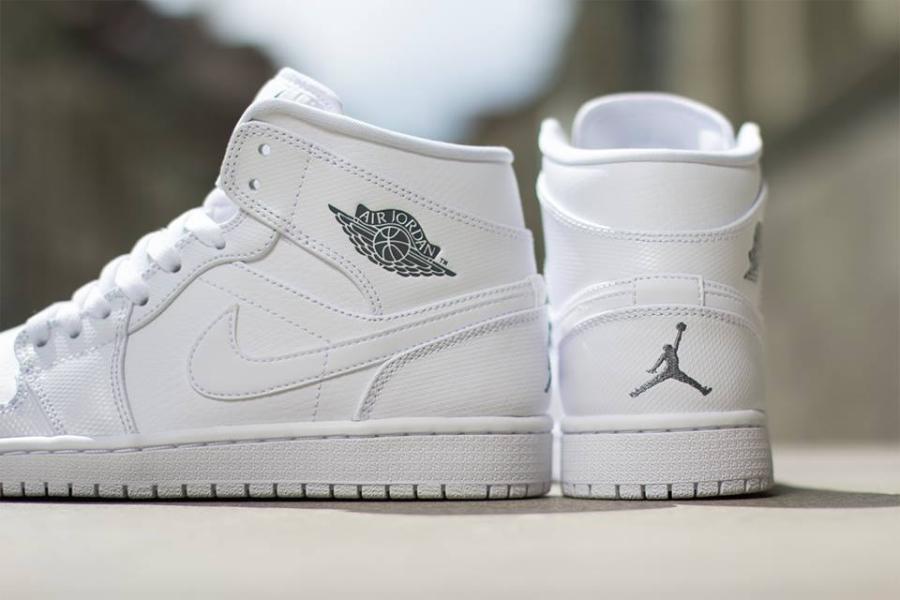 Air Jordan 1 Mid Cool Grey Nike Bianco XenOW