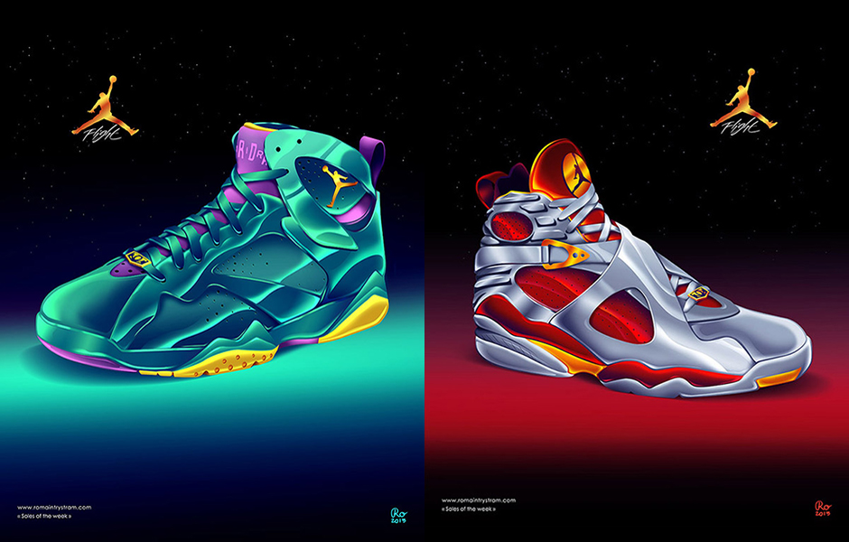 ... Air Jordans that he's designed, and be sure to check out what other  great sneaker he's produced under his Soles of the Week folder on his  Behance page.
