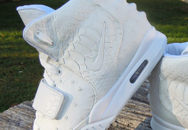 Shane Victorino s All-White Nike Air Yeezy 2 Customs - SneakerNews.com accefe1c5a80