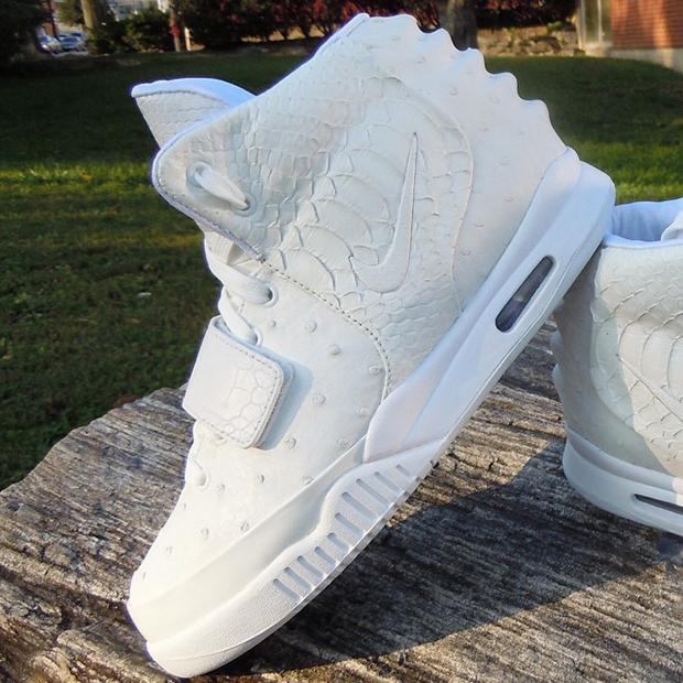 White Nike Air Yeezy 2 Customs