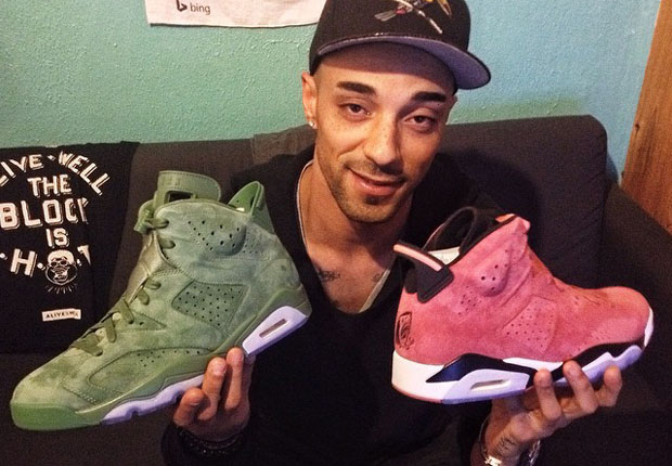 Another Look at Macklemore s Air Jordan 6 quot Cactus and Clayquot PEs