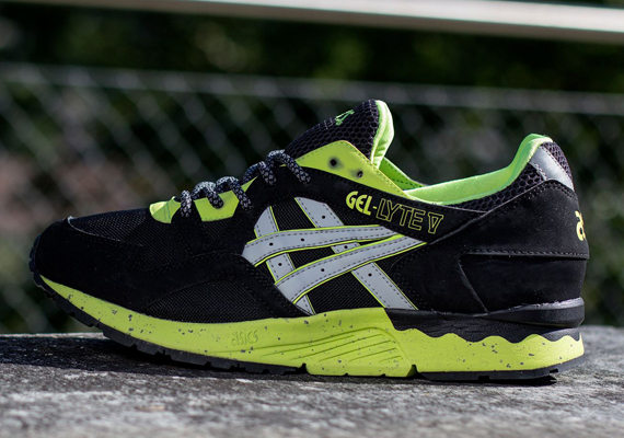 asics gel lyte v gore tex black yellow