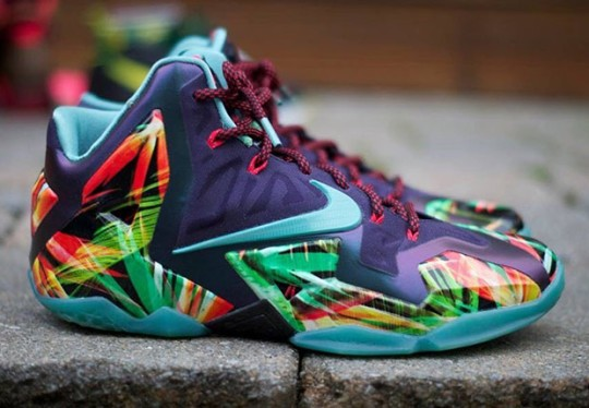 "Nike LeBron 11 ""Everglades"" – Teal Sample on eBay"
