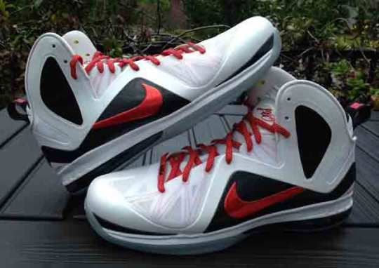 "Nike LeBron 9 Elite ""Red Swoosh"" PE on eBay"