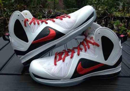 "Nike LeBron 9 Elite ""Red Swoosh"" PE on eBay"