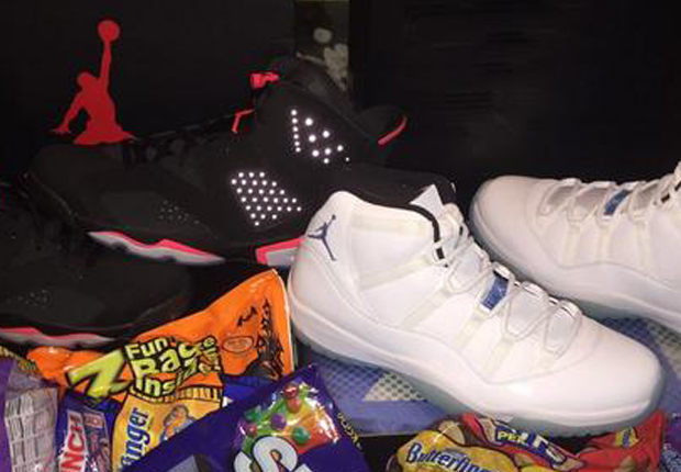 Marcus Jordan Shows Off Infrared 6s and Legend Blue 11s