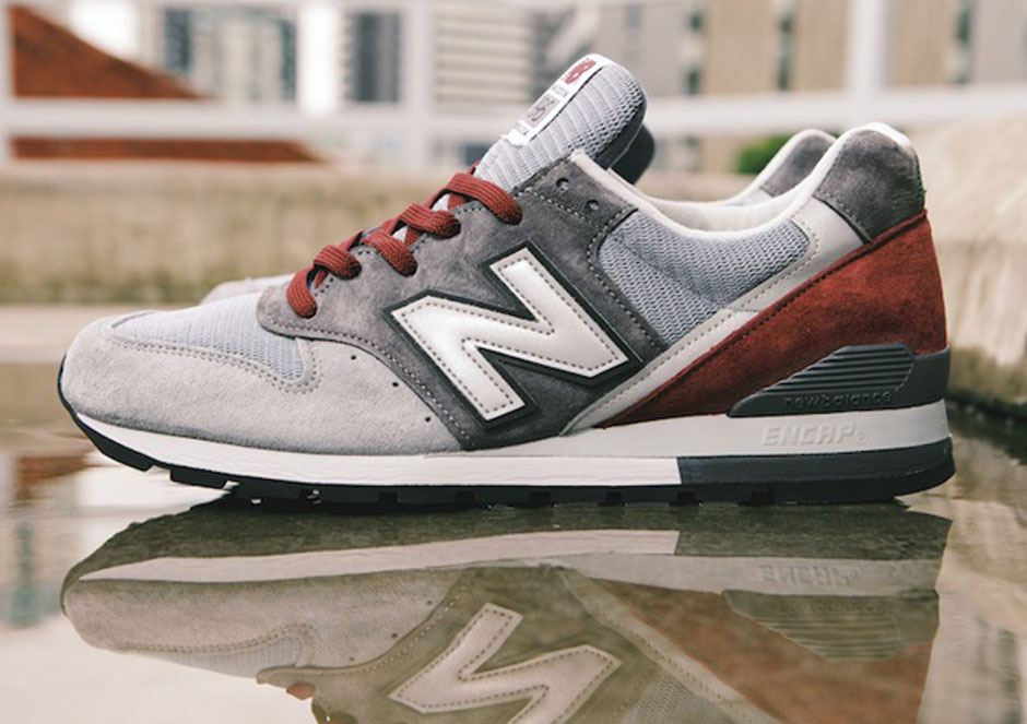 new balance 996 grey navy red house