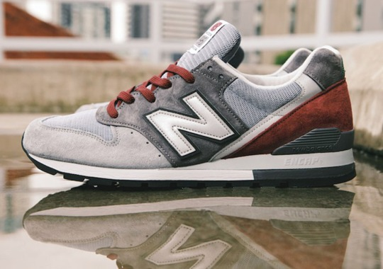 New Balance 996 Made in USA – Grey – Red
