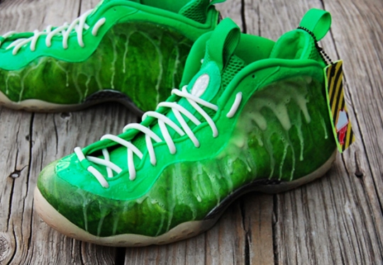 "Nike Air Foamposite One ""I've Been Slimed"" Customs by GourmetKickz"