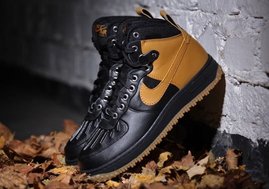 Nike Air Force 1 High Duckboot – Black – Gum Light Brown