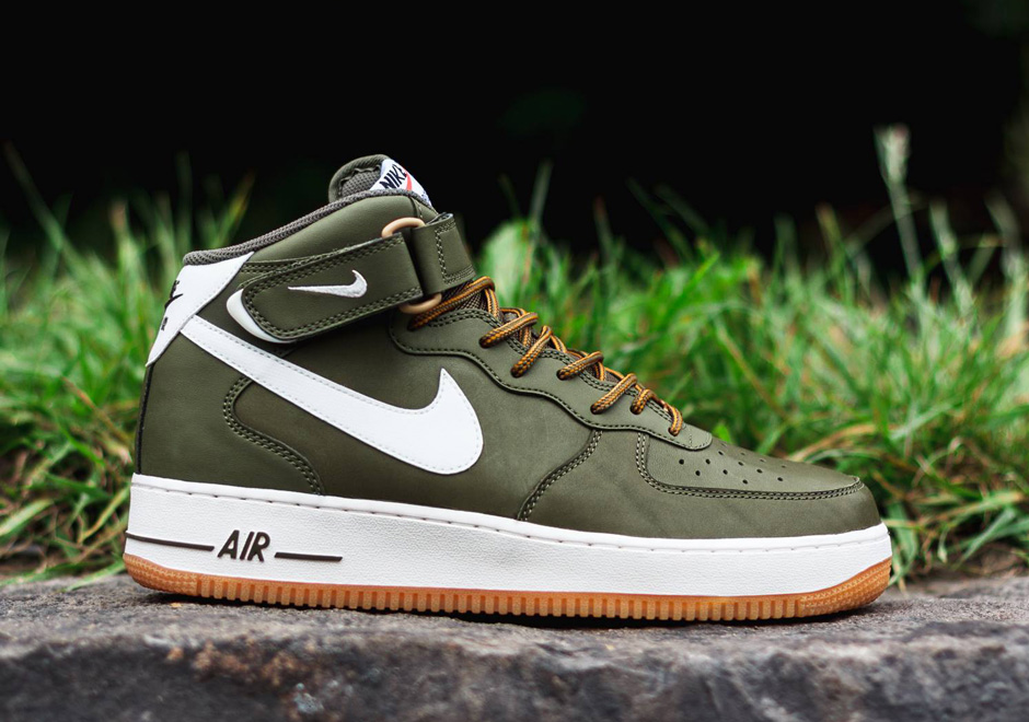 sneakers for cheap 38251 b18d7 Nike Air Force 1 Mid – Medium Olive – Sail – Light Brown