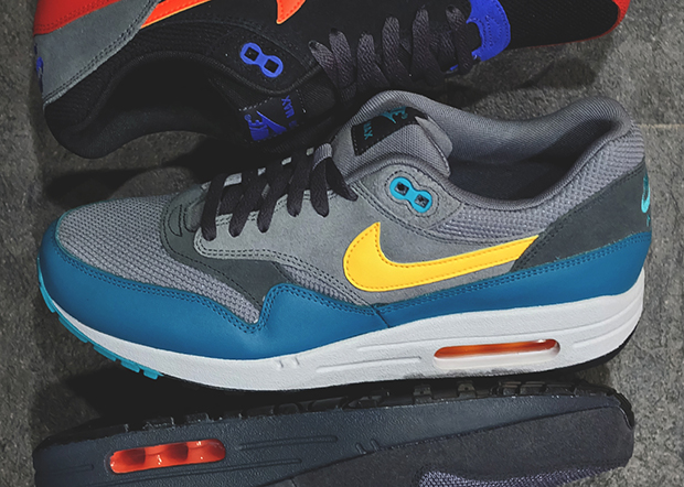 meet professional sale official Nike Air Max 1 Essential - Cool Grey - Catalina - Laser ...