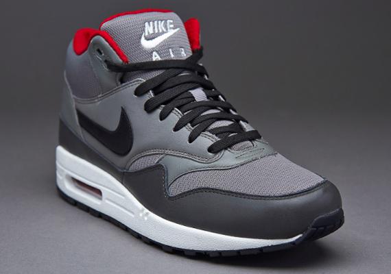 on sale fc2b9 d0452 Nike Air Max 1 Mid FB – Grey – Black – Red